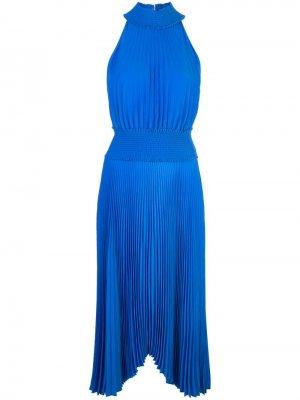 Плиссированное платье с вырезом халтер A.L.C.