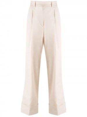 Укороченные брюки прямого кроя Essentiel Antwerp. Цвет: нейтральные цвета