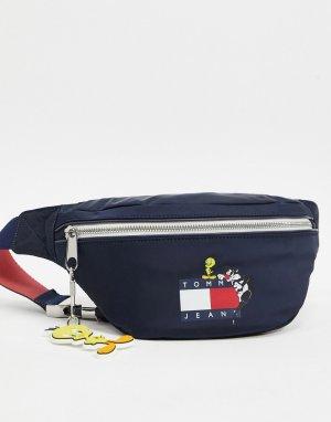 Темно-синяя сумка-кошелек на пояс с логотипом x Looney Tunes-Темно-синий Tommy Jeans
