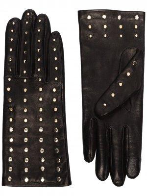 Перчатки Claire с заклепками Agnelle. Цвет: черный