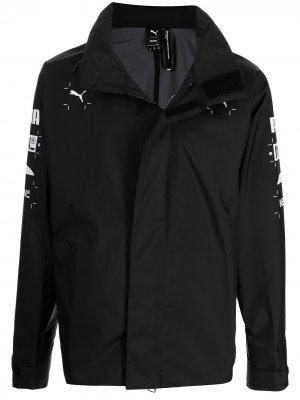 Куртка с графичным принтом из коллаборации Nemen PUMA. Цвет: черный