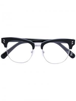 Очки в половинчатой оправе Stella Mccartney Eyewear. Цвет: чёрный