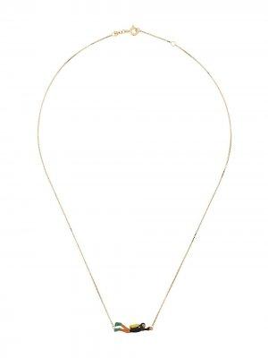 Золотая цепочка на шею Sub Aliita. Цвет: k7000 sage green