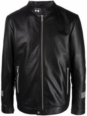 Байкерская куртка с логотипом Iceberg. Цвет: черный