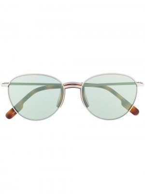 Солнцезащитные очки с затемненными круглыми линзами Kenzo. Цвет: серебристый