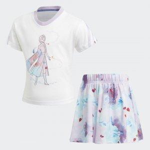 Комплект: футболка и шорты Frozen Performance adidas. Цвет: белый