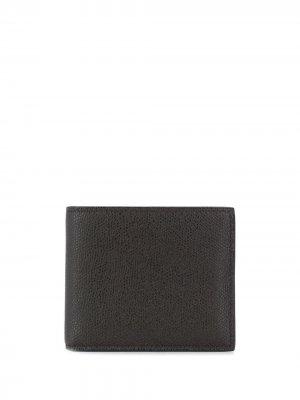 Квадратный кошелек Valextra. Цвет: черный