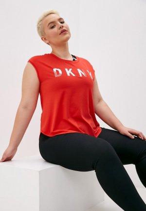 Майка DKNY. Цвет: красный