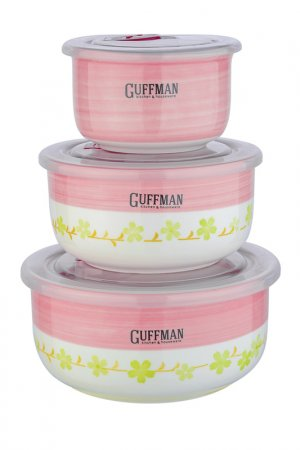 Набор контейнеров Guffman. Цвет: розовый, салатовый, белый