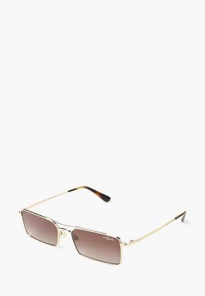 Очки солнцезащитные Vogue® Eyewear VO4106S 848/13. Цвет: золотой