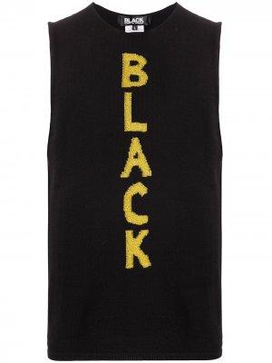 Топ без рукавов тонкой вязки Black Comme Des Garçons. Цвет: черный