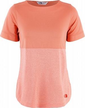 Футболка женская Inlux, размер 40-42 The North Face. Цвет: оранжевый