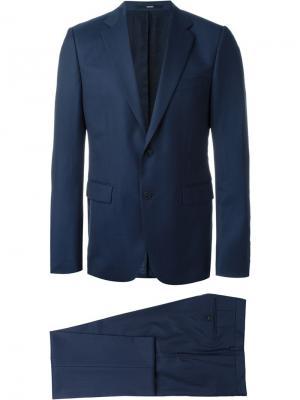 Двубортный костюм Kenzo. Цвет: синий