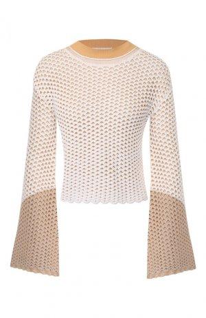 Вязаный пуловер Chloé. Цвет: кремовый