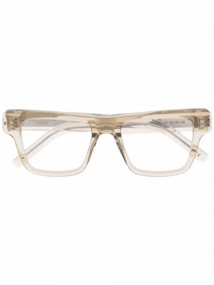 Очки в прозрачной квадратной оправе Saint Laurent Eyewear. Цвет: нейтральные цвета