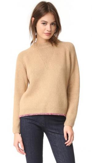 Пуловер Camel Maison Kitsune. Цвет: верблюжий