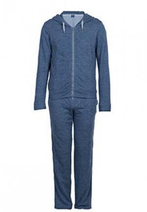 Спортивный костюм FEDELI. Цвет: синий