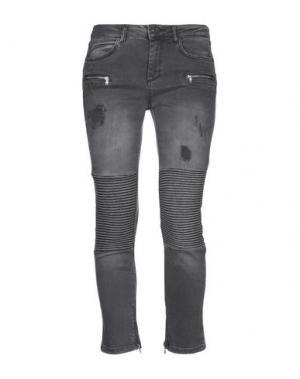 Джинсовые брюки BSB. Цвет: стальной серый