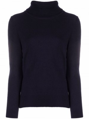 Elbow-patches roll-neck jumper Barbour. Цвет: синий