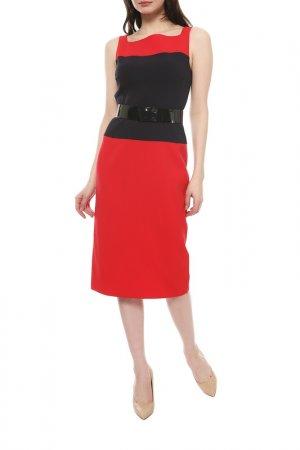 Платье Michael Kors. Цвет: красный, синий