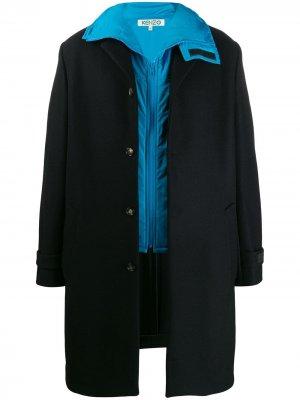 Пальто с жилетом Kenzo. Цвет: черный