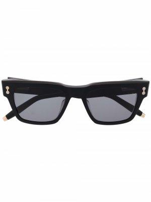Солнцезащитные очки Columba трапециевидной формы Akoni. Цвет: черный