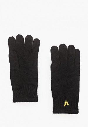 Перчатки Lyle & Scott Racked Rib Glove. Цвет: черный