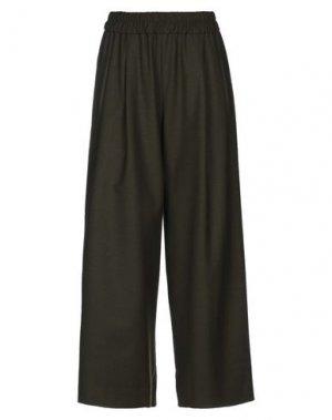 Повседневные брюки VIA MASINI 80. Цвет: зеленый-милитари