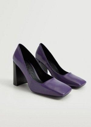 Кожаные туфли на каблуке - Luna Mango. Цвет: пурпурный