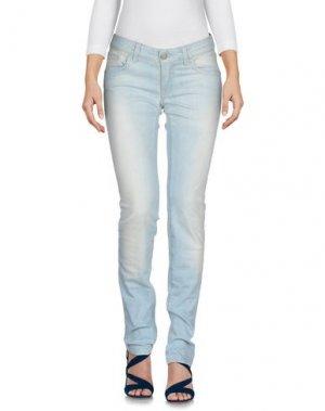Джинсовые брюки E-GÓ. Цвет: синий