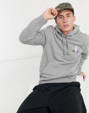 Серый пуловер с капюшоном Prism Trail HUF