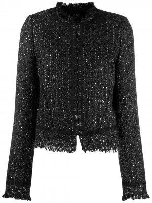 Твидовый пиджак на крючках Karl Lagerfeld