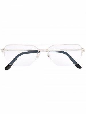 Очки-авиаторы Cartier Eyewear. Цвет: серебристый