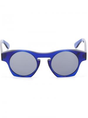 Солнцезащитные очки Monocle Eyewear. Цвет: синий