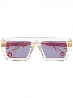 Солнцезащитные очки Sauvage Etudes. Цвет: нейтральные цвета