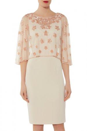 Dress Gina Bacconi. Цвет: beige, pink