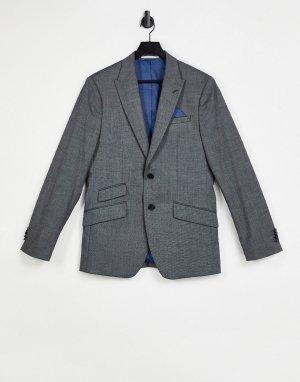 Классический темно-серый пиджак Burton Menswear