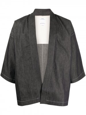 Пиджак с рукавами кимоно visvim. Цвет: синий