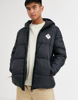Черная дутая куртка с логотипом Ross-Черный Barbour Beacon