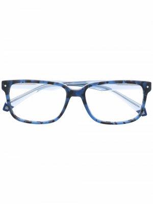 Очки трапециевидной формы Polaroid. Цвет: синий