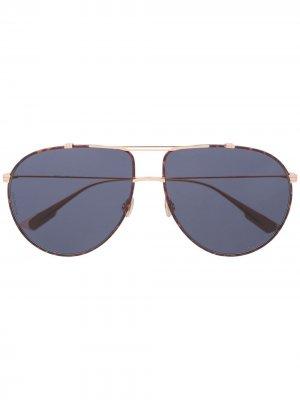 Солнцезащитные очки-авиаторы Monsieur 1 Dior Eyewear. Цвет: золотистый