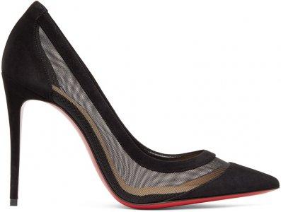 Black Galativi 100 Heels Christian Louboutin. Цвет: cm47 black
