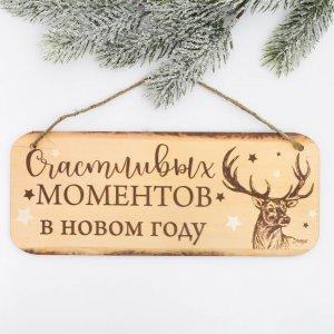 Табличка декоративная на спиле Зимнее волшебство