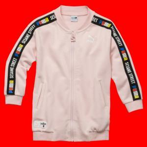 Детская олимпийка Sesame Jacket PUMA. Цвет: розовый