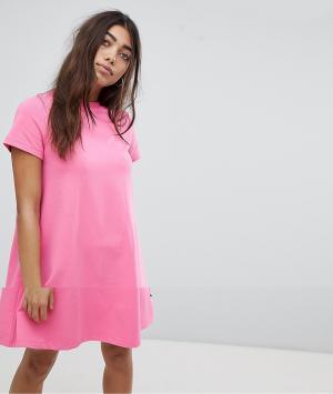 Платье-футболка Noisy May. Цвет: розовый