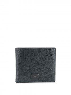 Бумажник с логотипом Dolce & Gabbana. Цвет: серый