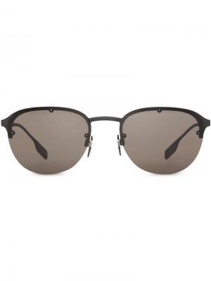 Солнцезащитные очки в круглой оправе Burberry Eyewear. Цвет: черный