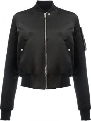 Куртка-бомбер Glitter Flight Rick Owens. Цвет: черный