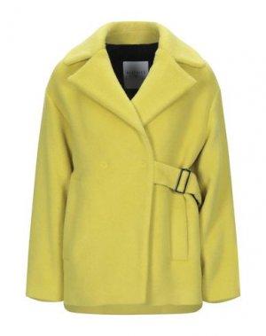 Пальто BEATRICE. Цвет: кислотно-зеленый