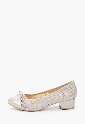 Туфли Caprice Comfort. Цвет: серый